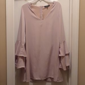 Beautiful  Lulu's cream dress with bell sleeves